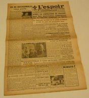 L'Espoir (Saint-Étienne) Du 7 Mai 1945.(Héros De La Résistance)-L'armée G - Riviste & Giornali