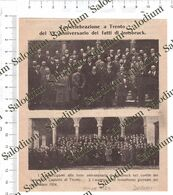1924 - TRENTO XV Anniversario INNSBRUCK - Da Pubblicazione Originale D'epoca - Cromos Troquelados