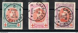 132/34 Koning Albert I - Rode Kruis Charleroy 10.06.1920 - Côte 35€ - 1914-1915 Croix-Rouge