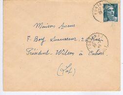LOT - Cachet Manuel Pointillé FONTANES Du 28 -1  45 - Poststempel (Briefe)