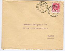 DORDOGNE - Cachet Manuel Pointillé LA COQUILLE Du 7 -4  42 - Postmark Collection (Covers)