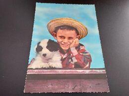 CPSM..Enfant Et Son Chien. (J.087) - Cani