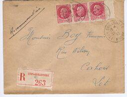 RHÔNE - Cachet Manuel LYON GUILLOTIERE Du 28 -1  42 - Postmark Collection (Covers)