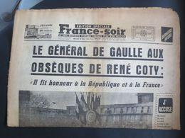 Le Havre - France - Soir - édition Spéciale N° 5710 - Le Général De Gaulle Aux Obsèques De René Coty - - 1950 - Nu