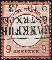 """Deutsches Reich Allemagne Germany 1872: """"GROSSER Adler* Michel-No. 27 Mit Stempel FRANKFURT 9.10.73 (Michel € 450.00) - Usati"""