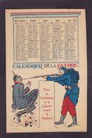 CPA Anti Kaiser Non Circulé Poilu Calendrier 1915 - Satiriques