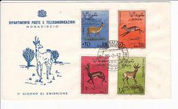 Somalia Italia 1967 FDC Serie Gazzelle Fauna Busta Primo Giorno - Somalia (1960-...)