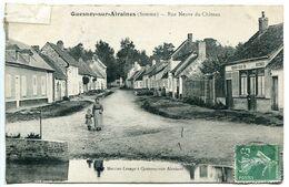 CPA 1909 * QUESNOY Sur AIRAINES Rue Neuve Du Château * Animée Femme Enfant - Francia
