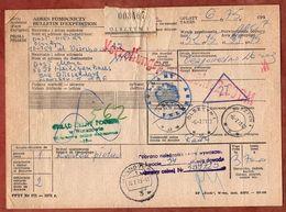 Paketkarte, Olsztyn Ueber Hannover Velbert Nach Heiligenhaus 1973 (96683) - 1944-.... Republic