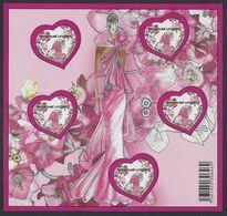 2009 - Bloc N° BF127 ( 4327x 5 ) NEUF ** LUXE , COEURS D'EMMANUEL UNGARO - Mint/Hinged