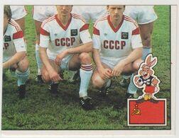 EURO 88 STICKER PANINI , Sticker #237 - TEAM SSSR 4/4 New - Panini