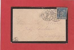 Algérie - CàD MOSTAGANEM ORAN  Sur Type Sage - 1908 - LSC - Algérie (1924-1962)