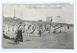 Paris- Plage - Carte Animée - Scène De Plage , Cabines, Tente, Sémaphore, Enfants... - Edit. Bourdelot - Le Touquet