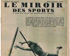 LE MIROIR DES SPORTS 942 1937 AVION DELMOTTE ISTRES SARREGUEMINES PARIS EVREUX REIMS MORLAIX CRITERIUM AIGLONS VAUCLUSE - Livres, BD, Revues