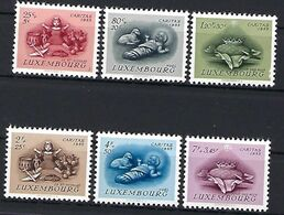 Luxembourg  -  Timbres 1955 CARITAS Postfrisch  MNH 2 étoiles  KW 30 - Blocs & Hojas