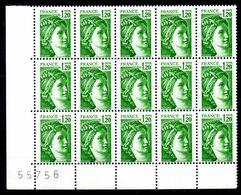 YT N° 2101a Sans Phosphore - Bloc De 15 - Neufs ** - Cote: 150,00 € - 1977-81 Sabine De Gandon