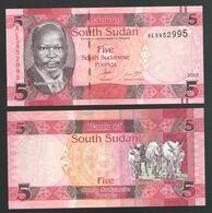 SOUTH SUDAN  5  2015 UNC - Zuid-Soedan