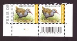 Belgique  2017 - YT N°4341 - Rallus Aquaticus  - MNH - Côte € 16.00  Registrered Letter Stamp - Unused Stamps