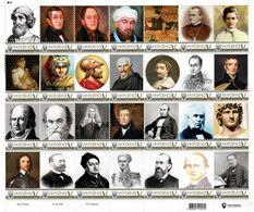 Ukraine 2019, World Great Men, War, Science, Medicine, Sheetlet Of 28v - Ukraine
