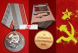 URSS CCCP MEDAGLIA MILITARE RUSSA DELL'ESERCITO SOVIETICO RUSSIA 1943 MARINA MILITARY RUSSIAN MEDAL BOUCLE MILITAIRE KGB - Rusland
