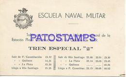 140295 ARGENTINA ESCUELA NAVAL MILITAR TALON PARA SACAR BOLETO TREN TRAIN YEAR 1949 NO POSTAL POSTCARD - Andere Sammlungen