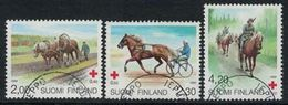 1994 Finland, Red Cross Horses Complete Set Used. - Gebraucht