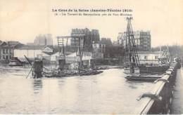 75 - PARIS 15 ° - INONDATIONS De PARIS (Janvier 1910) CRUE SEINE Travaux METROPOLITAIN ( Métro ) Près Pont Mirabeau CPA - Alluvioni Del 1910
