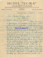 140299 ARGENTINA SANTIAGO DEL ESTERO PUBLICITY HOTEL ROMA MEMBRETE YEAR 1946 PAPEL CARTA NO POSTAL POSTCARD - Argentinien
