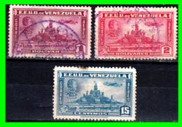 VENEZUELA 3 SELLOS AÑO 1947 AEREOS - Venezuela