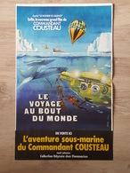 Affiche De Cinéma - Le Commandant Cousteau, Nautilus, Le Voyage Au Bout Du Monde - Illustrée Par Ferracci - Affiches & Posters