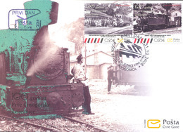 2008, FDC, The 100th Anniversary Of The First Montenegrian Railroad, Montenegro, MNH - Montenegro
