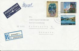 Iceland Registered Cover Reykjavik 1 Sent To Denmark - 1944-... Repubblica
