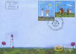 2008, FDC, European Children's Festival, Juy Of Europe, Montenegro, MNH - Montenegro