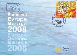 2008, FDC, European Water Polo Championship, Malaga 2008, Montenegro, MNH - Montenegro