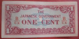 Burma Japanese Occupation: 1 / One Cent ND (WPM 9b) - Myanmar