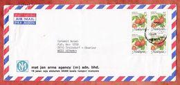 Luftpost, Pflanze Rambutan, Kuala Lumpur Nach Troisdorf 1988? (96710) - Malaysia (1964-...)