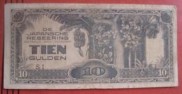 Japanese Occupation: 10 / Tien Gulden ND (WPM 125c) - Nederlands-Indië