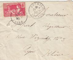 SEUL SUR LETTRE . N° 184. OLYMPIADE PARIS. 25c. - 1921-1960: Periodo Moderno