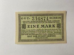 Allemagne Notgeld Leipzig 1 Mark - Colecciones