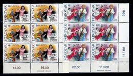 1985 Faroer Faroe EUROPA CEPT EUROPE 6 Serie Di 2v. Blocco MNH** MUSICA MUSIC - Europa-CEPT