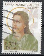 """Italia 2002 Uf. 2672 """"Santa Maria Goretti"""" - Viaggiato Used - Christentum"""
