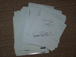 Opéra ! Gros Lot D'autographes Manuscrit Dédicace Autographe Vieux Papiers - Handtekening