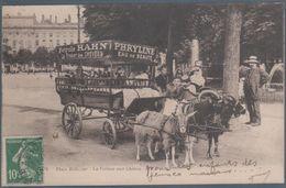 Lyon , Place Bellcourt , La Voiture Aux Chèvres , Publicité Phryline Eau De Beauté , Animée - Altri