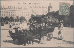 Lyon , Place Bellcourt , La Voiture Des Chèvres , Publicité Chocolat Cailler , Animée - Altri