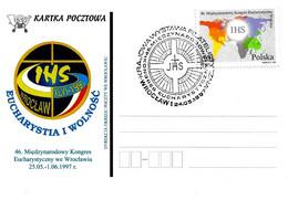 POLONIA POLSKA - 1997 WROCLAW Pope PAPA GIOVANNI PAOLO II Al Congresso Eucaristico - 2194 - Päpste