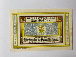 Allemagne Notgeld Norenberg 25 Pfennig - [ 3] 1918-1933 : Weimar Republic