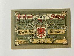 Allemagne Notgeld Norenberg 75 Pfennig - [ 3] 1918-1933 : Weimar Republic