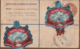 Registered Letter Postal Stationery From Sierra Leone To Geneva  4-aug-1973  Very Scarce - Sierra Leone (1961-...)