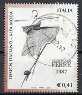 """Italia 2002 Uf. 2678 """"Design Italiano - Alta Moda. Gianfranco Ferre"""" - Viaggiato Used - 2001-10: Used"""