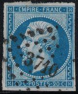 EMPIRE - N°14 - OBLITERATION - ALGERIE - PC3710 - ALGER. - 1849-1876: Période Classique